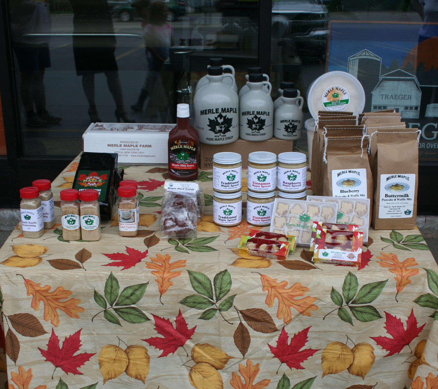 display of maple products